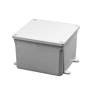 CARLON Molded Junction Box 0-Gang Gray Plastic New work/Old work Junction Box