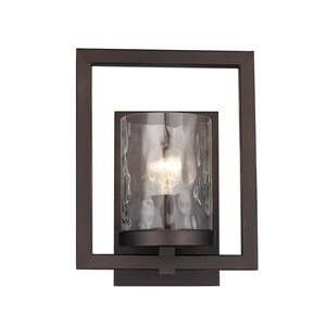 Lucid Lighting 9.33-in W 1-Light Rubbed oil bronze Ambient Hardwired Wall Sconce