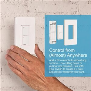Lutron Caseta Wireless 0-Switch 5-amp White (control) Light switch