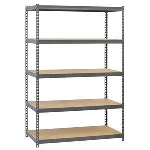 edsal 72-in H x 48-in W x 24-in D Steel 5-Tier Freestanding Shelving Unit CR4824