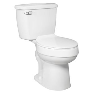 Jacuzzi Primo White 2-Piece Single Flush Comfort Height Elongated Toilet (1.28 GPF)