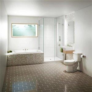 Jacuzzi Primo White 2-Piece Single Flush Comfort Height Elongated Toilet (1.28 GPF)