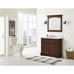 Jacuzzi Lyndsay White 2-Piece Single Flush Elongated Comfort Height Toilet (1.28 GPF)
