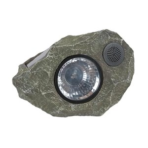 Fusion Solar Rock Light with Wireless Speaker