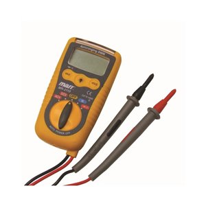 Marr Digital Multimeter, Data Hold Button and Integrated Flashlight Test Leads and Batteries Included