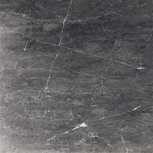 American Villa Noir Veined Black Porcelain Marble (Common: ; Actual: 23.85-in x 23.85-in)