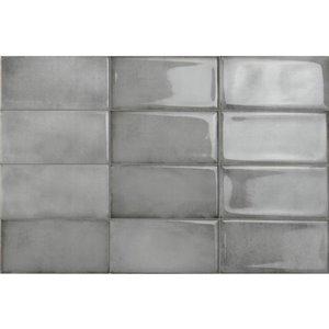 Iris Ceramica Be In Grey Ceramic (Common: ; Actual: 8-in x 4-in)