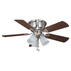 Prominence Home Noranda Bay 42-in Brushed Nickel 5-Blade Ceiling Fan with LED Light Kit