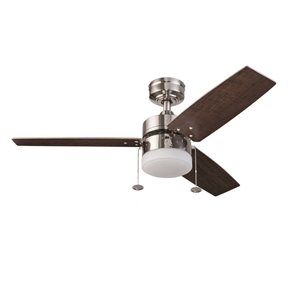 Prominence Home Orim 42-in Brushed Nickel LED Indoor Residential Ceiling Fan with Light Kit Included (3-Blade)