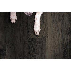 DELLA TORRE 8-in x 48-in Casele Black Wood Look Porcelain Floor and Wall Tile