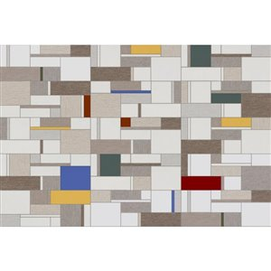 DELLA TORRE 8-in x 20-in Bastia White Ceramic Wall Subway Tile