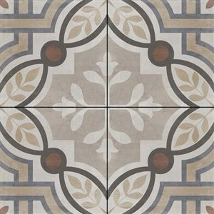 DELLA TORRE 8-in x 8-in Manchester Multicolor Porcelain Floor and Wall Tile