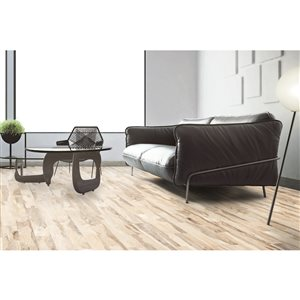 StonePeak Ceramics Inc. 6-in x 36-in Backwoods Country Oak Wood Look Porcelain Floor and Wall Tile