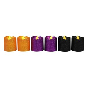 Carole Towne 1.5-in Assorted Colours LED Halloween Candle (2-Pack)