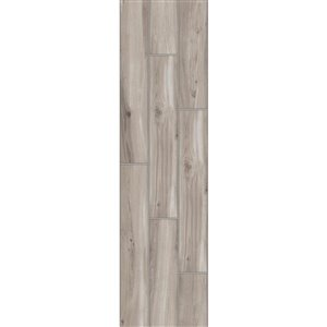 Style Selections 6-in x 24-in Elegant Wood Grey Wood Look Porcelain Floor and Wall Tile