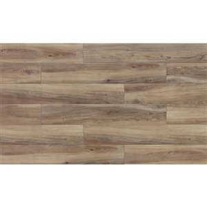 Style Selections 6-in x 36-in Shiny Wood Oak Dark Wood Look Porcelain Floor and Wall Tile