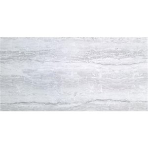 Avenzo 16-in x 32-in Avenzo Silver Porcelain Floor and Wall Tile