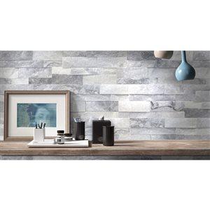 Avenzo 6-in x 24-in Avenzo White Quartz Wall Tile (6-Pack)