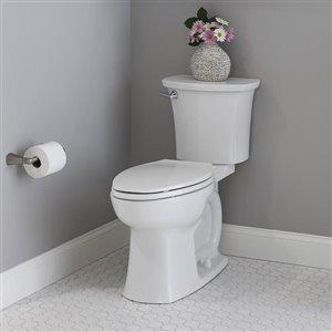 American Standard Edgemere White 2-Piece Single Flush Elongated Comfort Height Toilet (1.28 GPF)