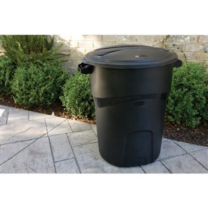 rubbermaid 32-gal roughneck black trash can | lowe's canada