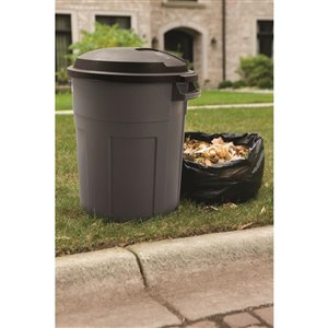 rubbermaid roughneck 20-gal pewter trash can | lowe's canada