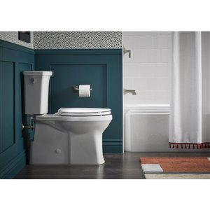 KOHLER Transpose White 2-Piece Single Flush Elongated Comfort Height Toilet (1.28 GPF)
