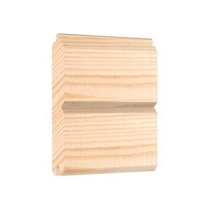 1-in x 6-in x 10-ft White Pine Unfinished V-Grooved Planks