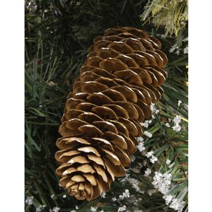 7-ft Warm White LED Frosted Pine Lamp Post