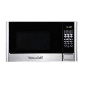 BLACK+DECKER 0.9-cu ft 900.0-Watt Countertop Microwave (Stainless Steel)