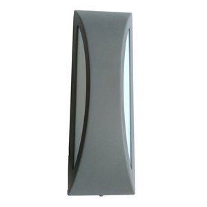 Ashley Harbour 13.75-in H Silver LED Outdoor Wall Light