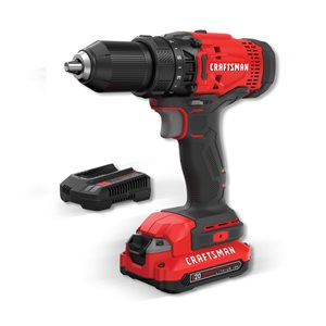 CRAFTSMAN 20-Volt Max 1/2-in Variable Speed Cordless Drill (1 -Battery Included and Charger Included)