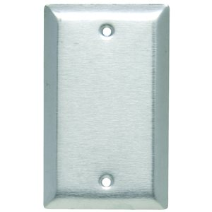 Legrand 1-Gang Blank Wall Plate (Stainless Steel)