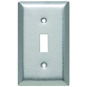 Legrand 1-Gang Toggle Wall Plate (Stainless Steel)