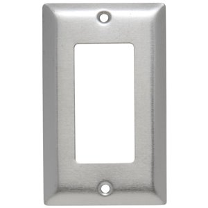 Legrand 1-Gang Decorator Receptacle Wall Plate (Stainless Steel)