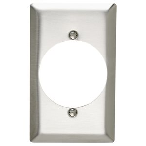 Legrand 1-Gang Stainless Steel Single Round-ft Wall Plate