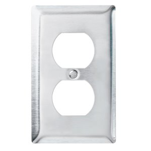 Legrand 1-Gang Duplex Receptacle Wall Plate (Stainless Steel)