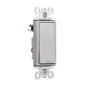 Legrand radiant 15 Amp Single Pole Switch Gray