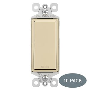 Pass & Seymour/Legrand Pass & Seymour/Legrand TM870 15-Amp 120-volt Ivory TradeMaster Decorator Switch