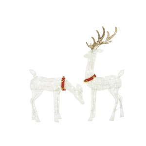 2-Pack 56-in Colour-Changing LED Reindeer
