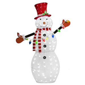 52-in Twinkling Cool White LED Snowman