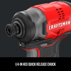 CRAFTSMAN 20-Volt Max 2-Tool Brushless Power Tool Combo Kit with Soft Case (2-Batteries Included and Charger Included)