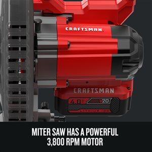 CRAFTSMAN 20 V 7-1/4-in Sliding Miter Saw