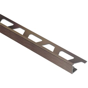 Schluter Systems 3/8-in Brushed Bronze Aluminum Tile Edge Trim