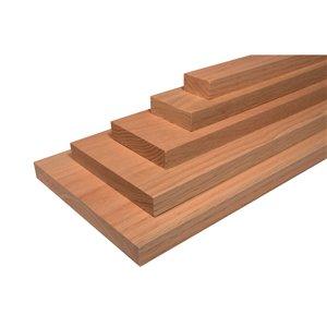1-in x 4-in x 4-ft Red Oak Appearance Board