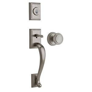 Weiser Pemberly/Wickham SmartKey Keyed Entry Handleset (Satin Nickel)