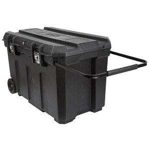 CRAFTSMAN 37-in Black Plastic Wheels Lockable Tool Box