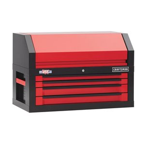 """CRAFTSMAN 41"""" W x 26.5"""" H - 4 Drawer Steel Tool Chest (Red)"""