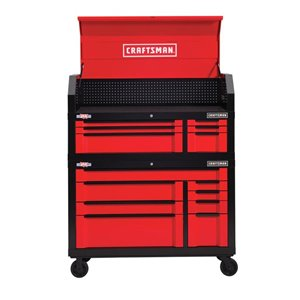 CRAFTSMAN 54-in W x 37-in H Red 8-Drawer Steel Tool Cabinet