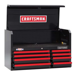 CRAFTSMAN 40.5-in H x 24.5-in H Black 8-Drawer Steel Tool Chest