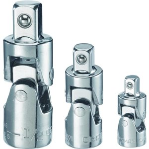 CRAFTSMAN 1/4-in; 3/8-in; 1/2-in to 1/4-in; 3/8-in; 1/2-in U-Joint Socket Adapter